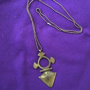Vanessa Mooney Brass Tribal Necklace